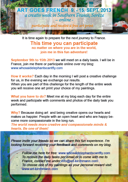 a creative workshop in Southern France